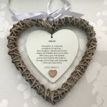 Shabby personalised Chic Special DAUGHTER Present ~ ANY NAMES Willow Heart Gift - 233008576832